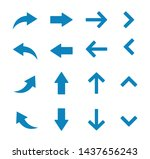 arow set symbol icon vector.... | Shutterstock .eps vector #1437656243