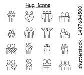 lover  hug  friendship ... | Shutterstock .eps vector #1437684500