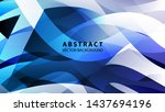 abstract colorful wave...   Shutterstock .eps vector #1437694196