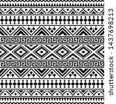 ikat ethnic pattern vector...   Shutterstock .eps vector #1437698213
