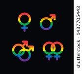 vector gender symbol icons  ... | Shutterstock .eps vector #1437705443