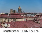 View On Roofs Of Old Buildings...