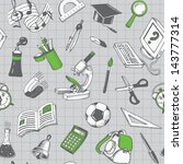 school and education seamless... | Shutterstock .eps vector #143777314