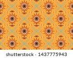 seamless floral pattern....   Shutterstock .eps vector #1437775943