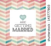 vector illustration. wedding... | Shutterstock .eps vector #143777803