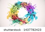 creative colorful hand drawn... | Shutterstock . vector #1437782423