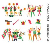 team color clothes football... | Shutterstock .eps vector #1437799370