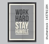 work quote poster. effects...   Shutterstock .eps vector #143781184
