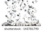 keyboard keys falling | Shutterstock . vector #143781790