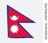 flag of nepal  from brush...