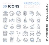 set of vector line icons of... | Shutterstock .eps vector #1437862160