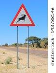 Warthog Road Crossing Sign  ...