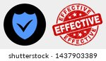 rounded valid shield icon and... | Shutterstock .eps vector #1437903389