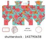 favor  gift  product box die... | Shutterstock .eps vector #143790658