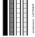 35 mm filmstrip isolated on... | Shutterstock .eps vector #143790859