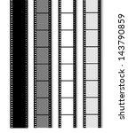 35 mm filmstrip isolated on... | Shutterstock .eps vector #143790859