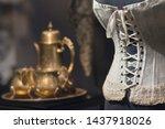 Luxurious retro corset and...