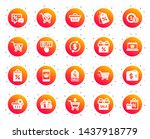 shopping wallet icons. gift ... | Shutterstock .eps vector #1437918779