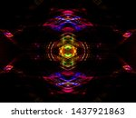 symmetry and reflection. light...   Shutterstock . vector #1437921863