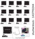 2014 grunge desk calendar... | Shutterstock .eps vector #143793244