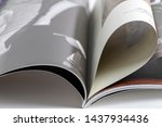 ad image magazine close up... | Shutterstock . vector #1437934436