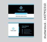 business card template design... | Shutterstock .eps vector #1437952310