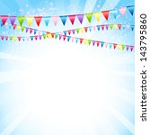 festive background with flags | Shutterstock .eps vector #143795860