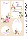 set wedding invitation cards ...   Shutterstock .eps vector #1437958940
