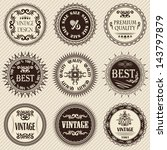 set of vintage labels on a... | Shutterstock .eps vector #143797879