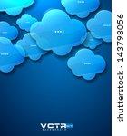 blue glass clouds modern... | Shutterstock .eps vector #143798056