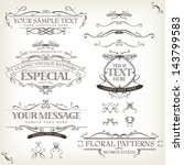 vintage old labels banners and... | Shutterstock .eps vector #143799583