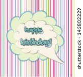 happy birthday card | Shutterstock .eps vector #143802229