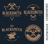 Blacksmith Labels Set. Design...