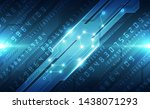 abstract technology security on ... | Shutterstock .eps vector #1438071293