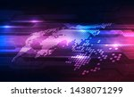 vector abstract futuristic... | Shutterstock .eps vector #1438071299
