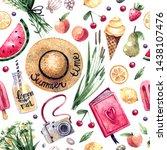 watercolor seamless pattern on...   Shutterstock . vector #1438107476