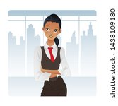 smart and young african... | Shutterstock .eps vector #1438109180