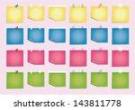 sticky sheet | Shutterstock .eps vector #143811778