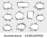 set of empty comic speech... | Shutterstock .eps vector #1438160900