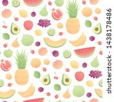 vector modern simple fruit... | Shutterstock .eps vector #1438178486