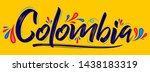 colombia patriotic banner... | Shutterstock .eps vector #1438183319