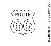 us route 66 sign. travel and... | Shutterstock . vector #1438190480