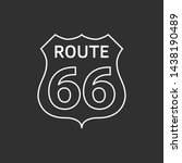 us route 66 sign. travel and... | Shutterstock . vector #1438190489