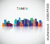tampa skyline silhouette in... | Shutterstock .eps vector #1438199330