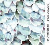 blue turquoise snake seamless... | Shutterstock . vector #1438206209