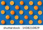 Fruit Pattern Of Fresh Orange...