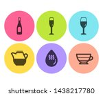 milk jug  champagne and hot... | Shutterstock .eps vector #1438217780