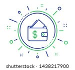 wallet line icon. affordability ... | Shutterstock .eps vector #1438217900