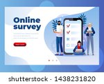 online survey vector...