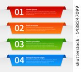 colorful infographic banners.... | Shutterstock .eps vector #1438247099